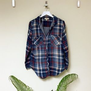 Anthropologie Plaid Top